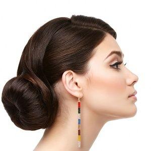 Jewelry - Rhinestone Bar Drop Earrings